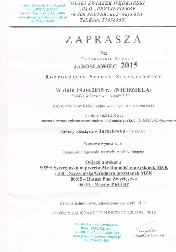 2015 Zawody Spławikowe Jarosławiec