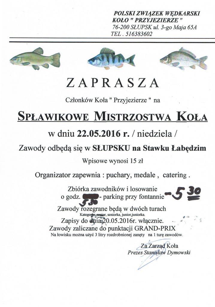 Spławikowe Mistrzostwa Koła - Stawek Łabędzi - 2016