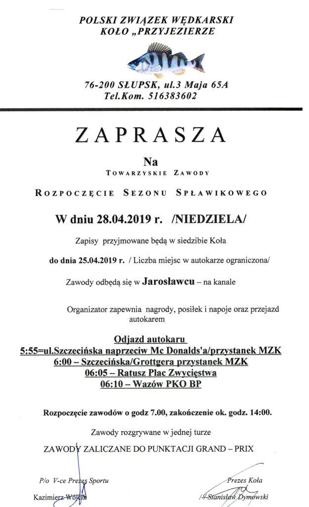 Jarosławiec 2019 - zawody spłwikowe