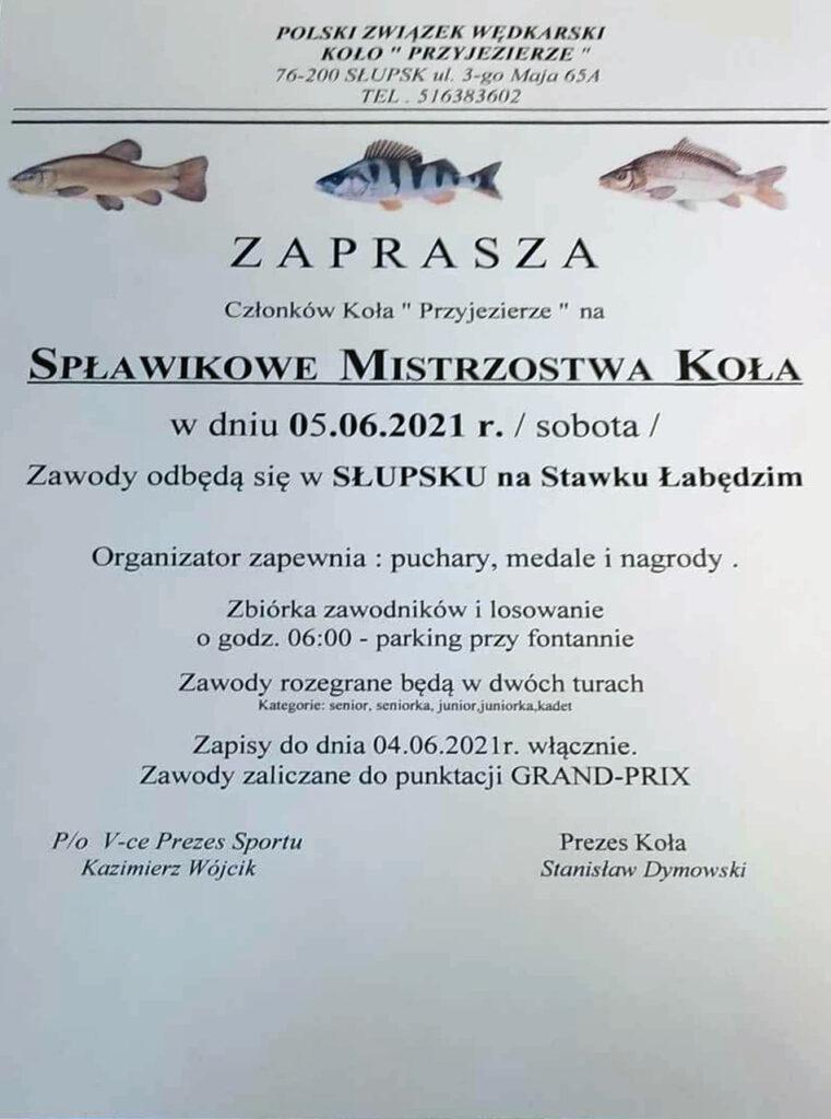 Zawody Stawek Łabędzi Słupsk 2021
