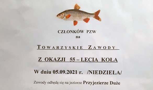 Zawody z okazji 55-lecia PZW Przyjezierze